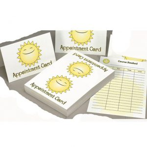 appointment-record cards for tanning salons