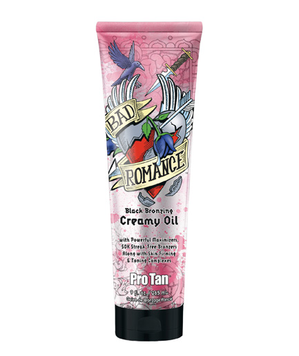 bad-romance black bronzing creamy oil tanning lotion from pro tan