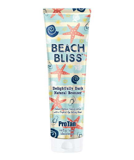 beach-bliss dark natural bronzer tanning lotion from pro tan