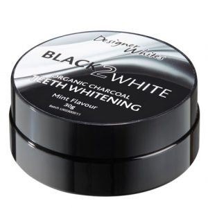 black-2-white-organic teeth whitening charcoal powder single