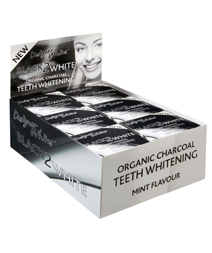 black-2-white-salon-shot organic charcoal teeth whitening powder in mint flavour