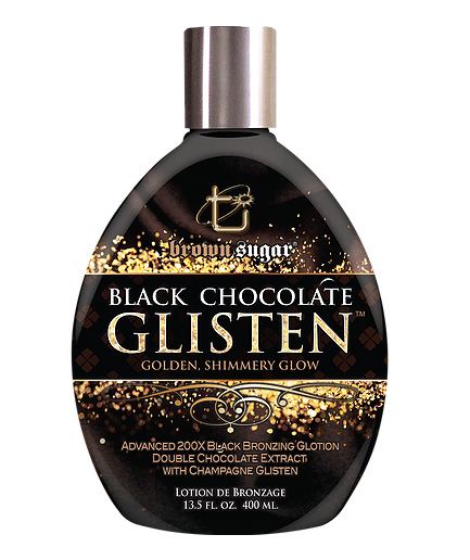 black chocolate glisten bronzing tanning lotion from tan inc