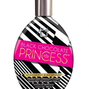 black chocolate princess with advanced bronzers tanning lotion from tan inc