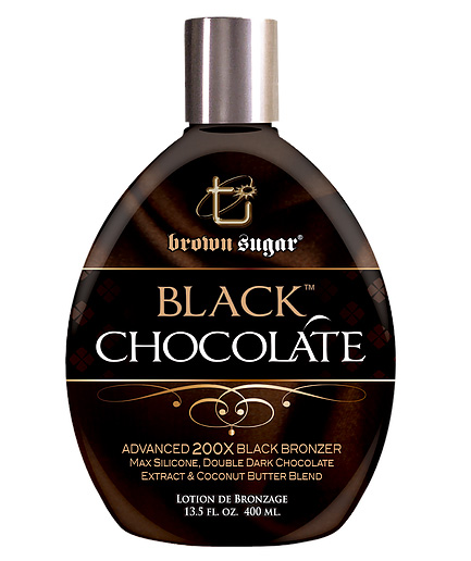 black-chocolate brown sugar bronzing tanning lotion from tan inc