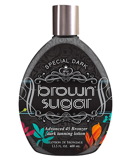special dark brown sugar tanning lotion with advanced bronzer from tan inc