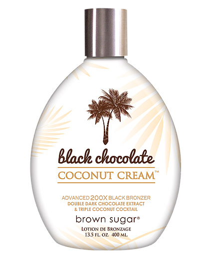 black chocolate coconut cream bronzer tanning lotion from brown sugar by tan inc