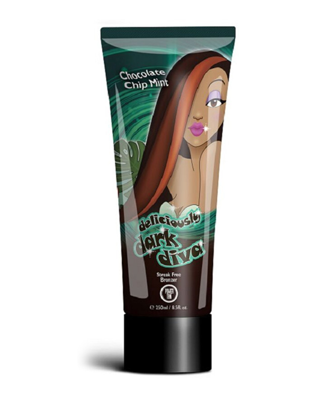 deliciously-dark-diva chocolate chip mint tanning lotion form power tan
