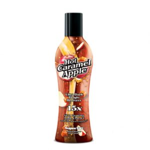 hot-caramel-apple ultra dark tingle bronzer tanning lotion form supre tan