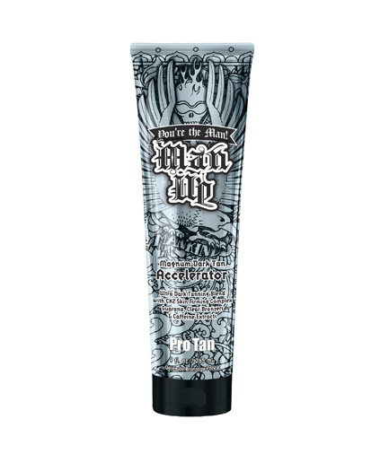 man-up double dark tanning accelerator lotion from pro tan