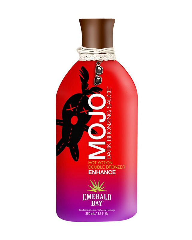emerald bay mojo dark sauce hot action double triple bronzer tanning lotion