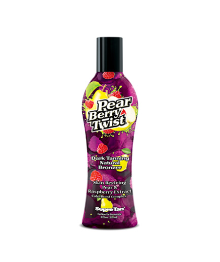 pear-berry-twist dark tanning natural bronzer lotion from supre tan