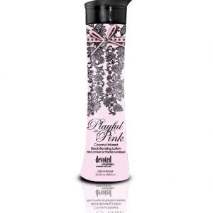 playful-in-pink tanning lotion in coconut from devoted creations