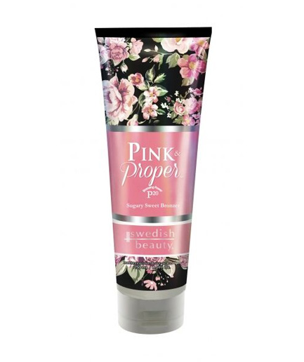 pink-proper swedish beauty tanning lotion from botanica
