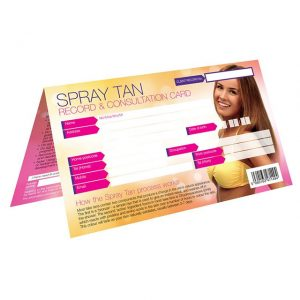 spray-tan-record for sun bed salon use