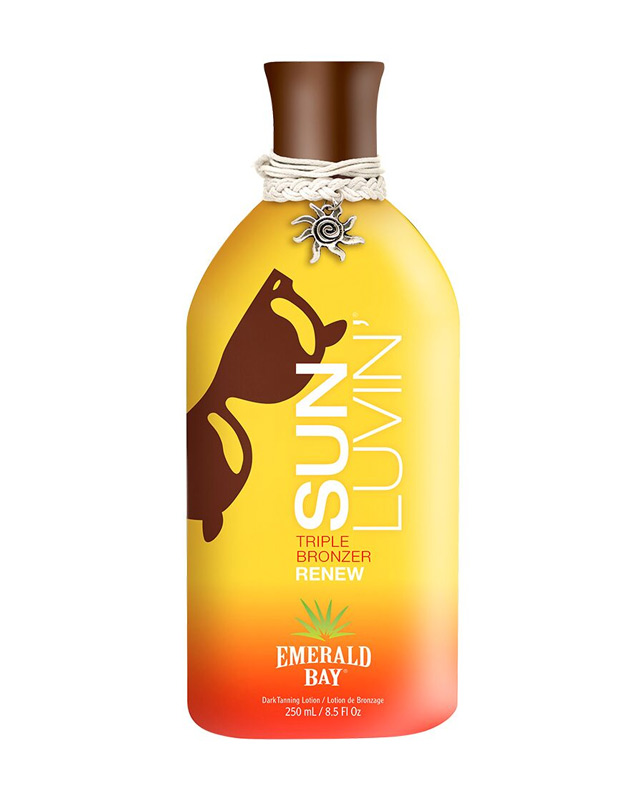 emerald bay sun luvin triple bronzer tanning lotion