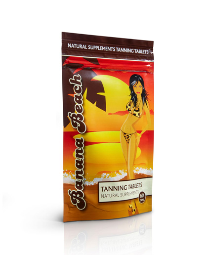 tanning_tablets pouch from banana beach beauty