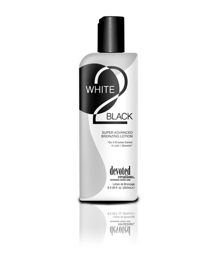 white to black new advanced ultra fast tanning lotion from devoted creations