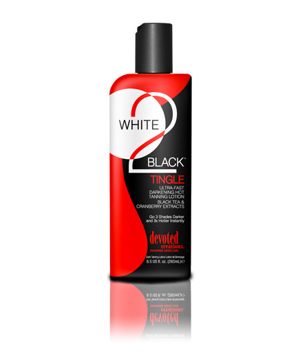 white to black tingle ultra fast tanning lotion from devoted creations