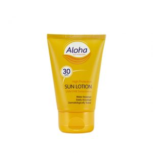 mini aloha travel sized pocket sun protection uva uvb factor 30 lotion