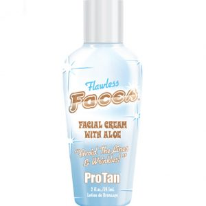 flawless-faces facial creme tanning lotion from pro tan