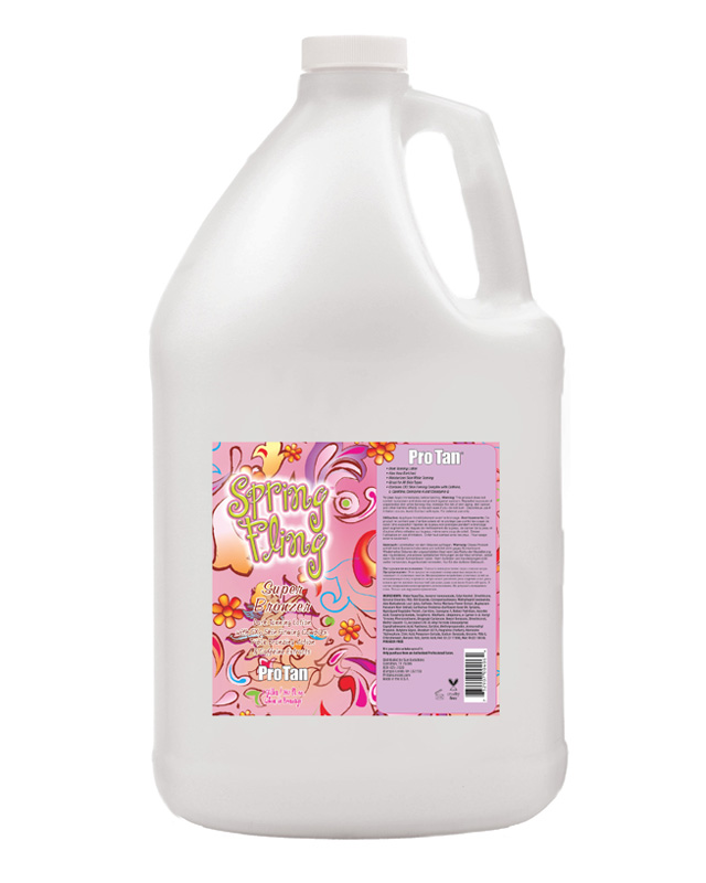 gallon-spring-fling bulk tanning lotion for salon from pro tan