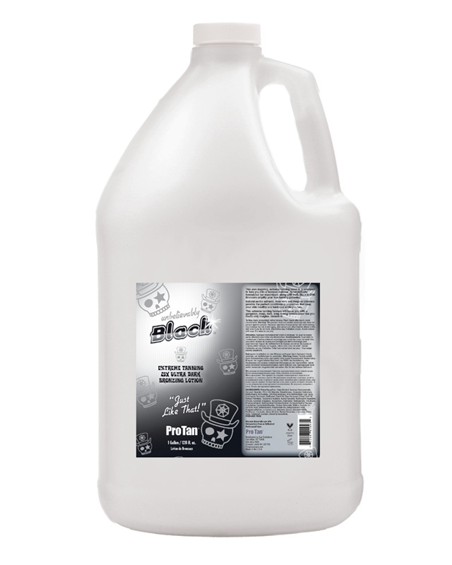 gallon-unbelievable-black tanning lotion from pro tan