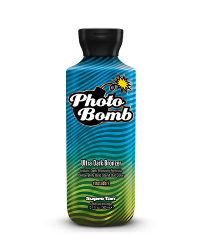 photo bomb black ultra dark bronzer tanning lotion supre tan