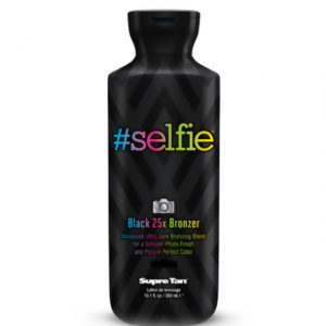 #selfie black ultra dark bronzer tanning lotion supre tan