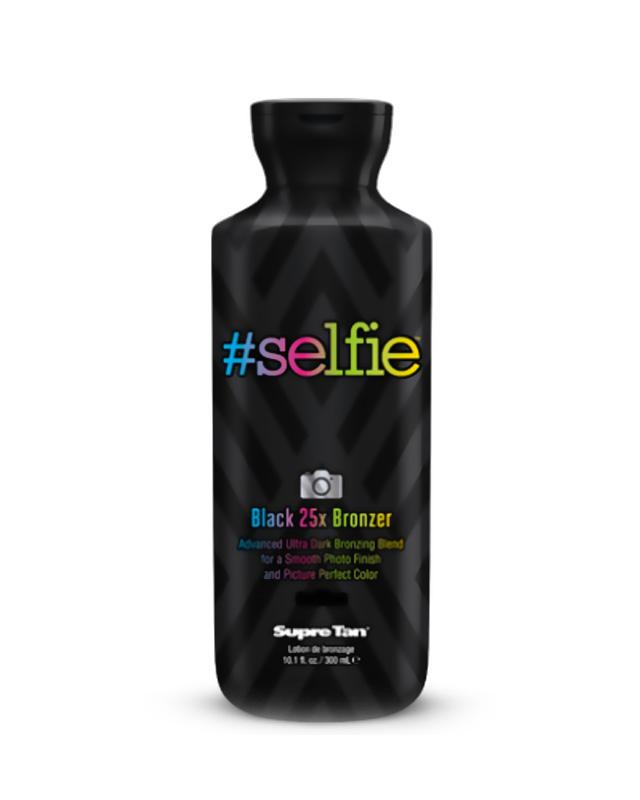 #selfie black ultra dark bronzer tanning lotion supre tan