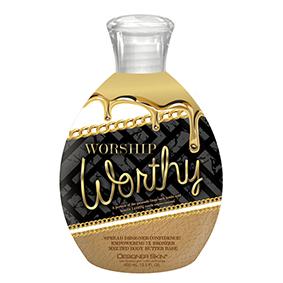 designer skin tanning lotion Worship Worthy