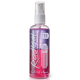 Radical rapid sun bed tanning spray