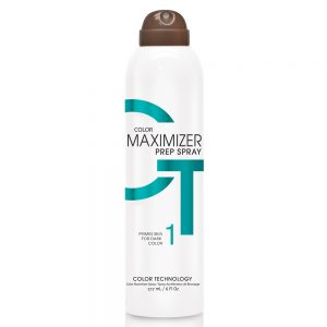 California Tan Colour maximizer prep spray product primes skin for dark sunless colour
