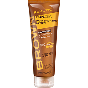 exotic insanity tannymax intansity deep tanning lotion for face and body fruity fanatic plus vitamins
