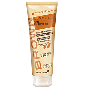 tannymaxx tropical beyouty brown tan extender longer brown bronzer for daily use plus vitamins